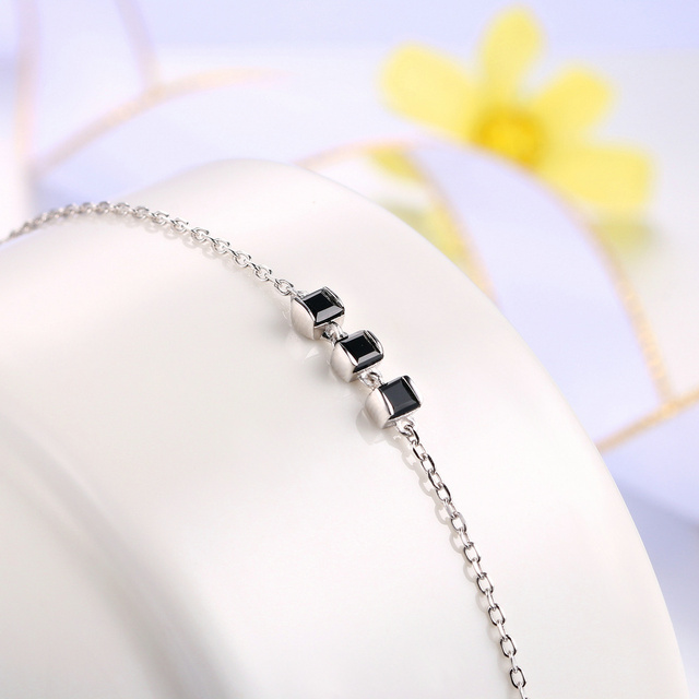 Bracelet Argent Onyx