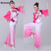 2019 summer water sleeves traditional chinese costume hanfu dress performance clothing dress women stage costume dance wear