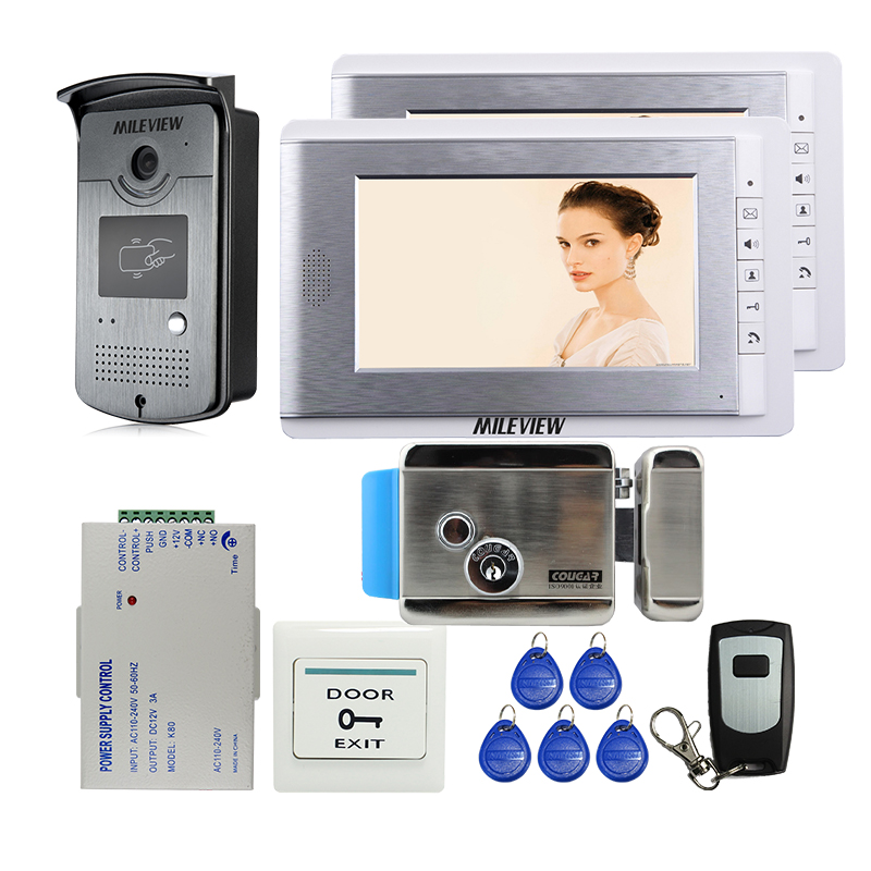 Mileview Wired 7 Tft Video Door Phone Intercom Entry System 2
