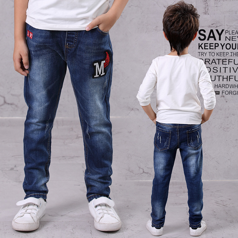 Autumn Kids Young Boys Clothes Pants Children Boy Denim Jeans Trousers Bottoms