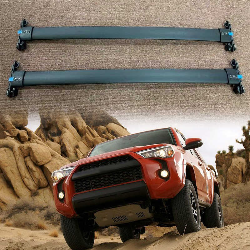 black car top roof rack cross bars lockable bar luggage cargo carrier rack compatible fit for toyota 4runner trd pro 2010 2019