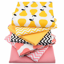 Фотография 7pcs/lot,Twill Cotton Fabric Patchwork Pear Tissue Cloth Of Handmade DIY Quilting Sewing Baby&Children