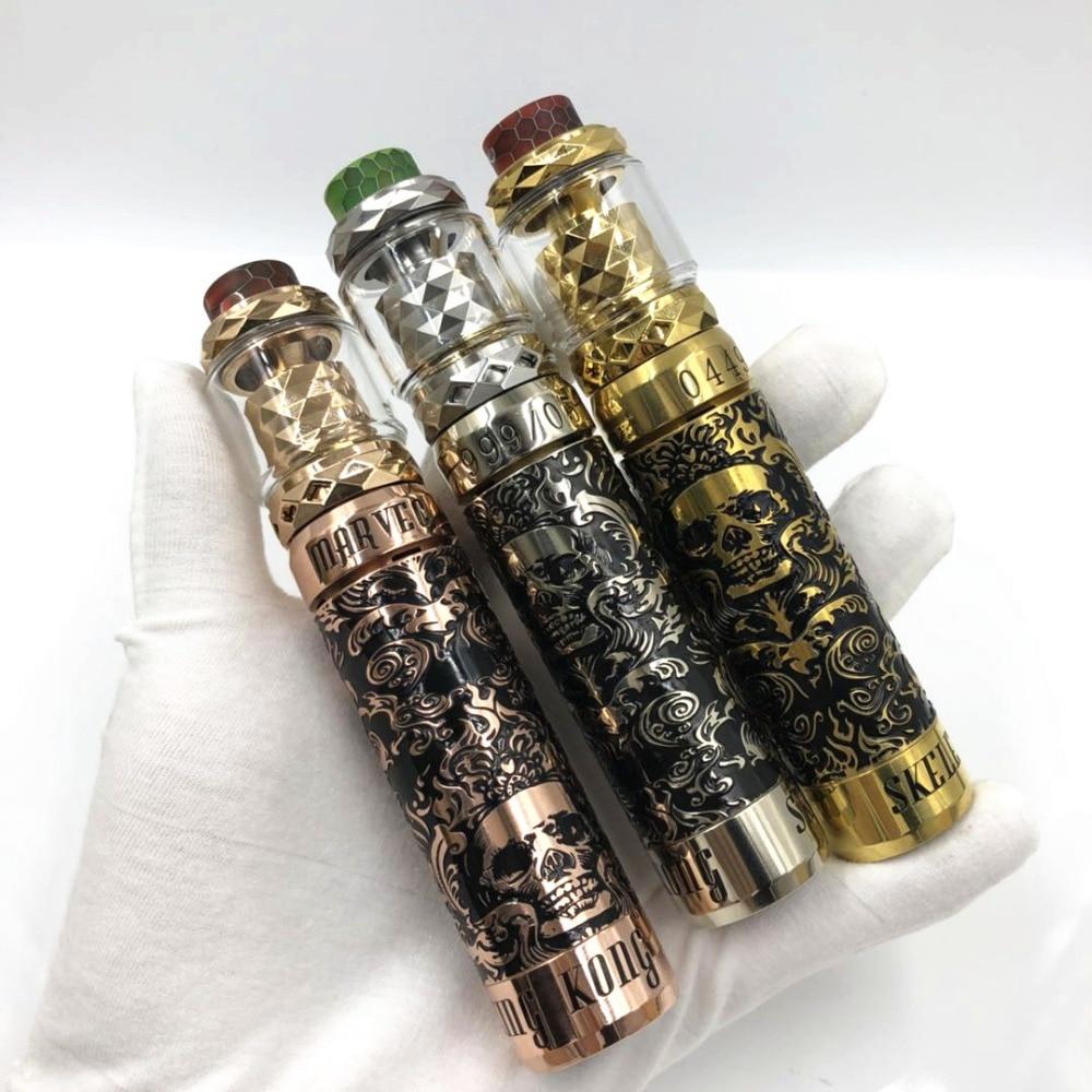 Cigarette électronique avancée kit mod mécanique squelette roi Kong Mod vape 26mm de diamètre avec prêtre RTA atomiseur 18650 batterie mod