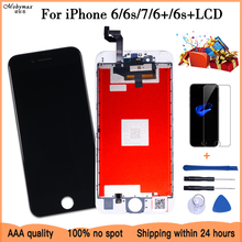 Biały i czarny ekran 100% OEM dla iPhone 6 7 6 Plus 6s Plus wymiana ekranu lcd z 3D montaż digitizera ekranu dotykowego