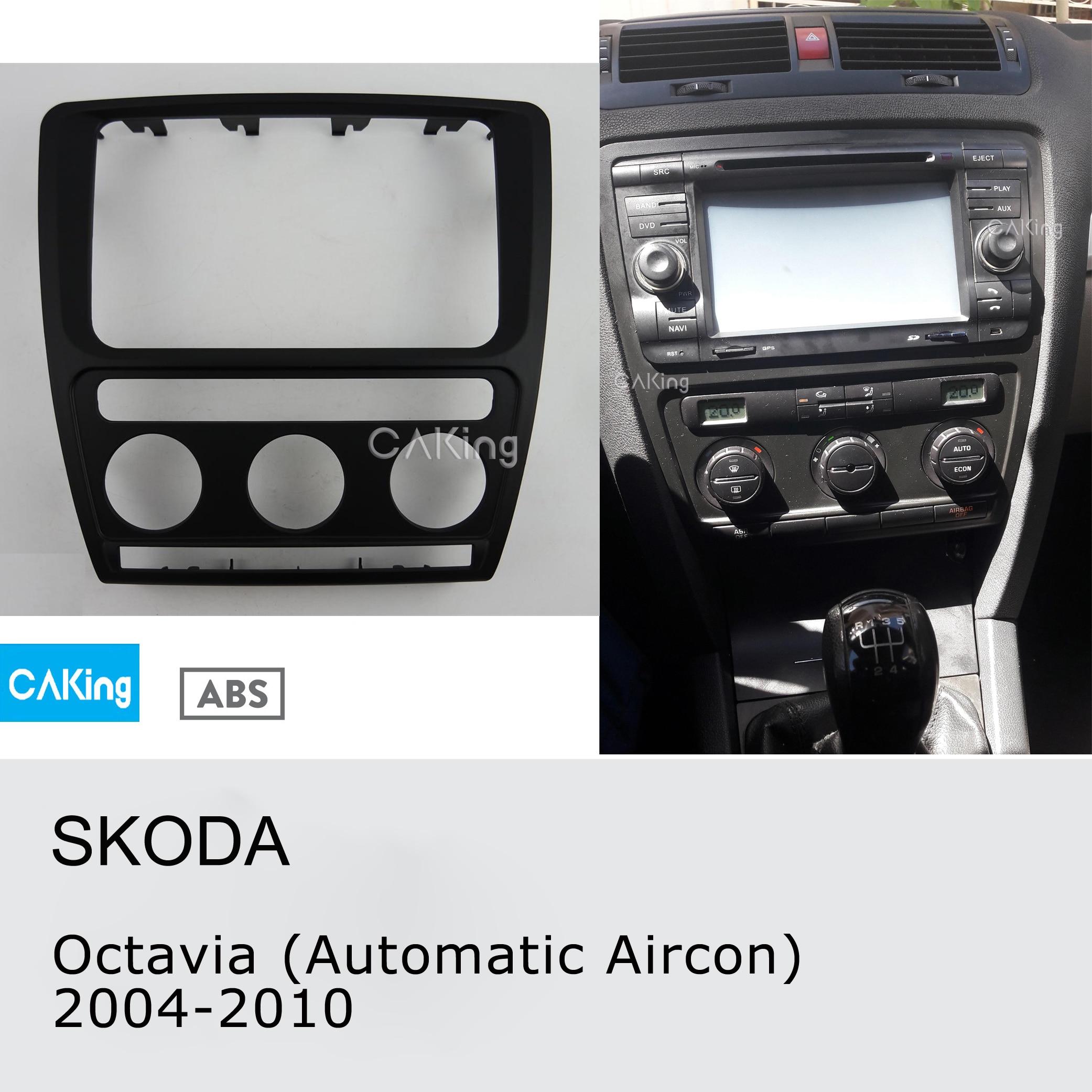 Car Radio Facia For Skoda Octavia (Automatic Aircon) 2004-2010 DVD Fascia Stereo CD Panel Dash Kit Trim Face Plate Frame Bezel