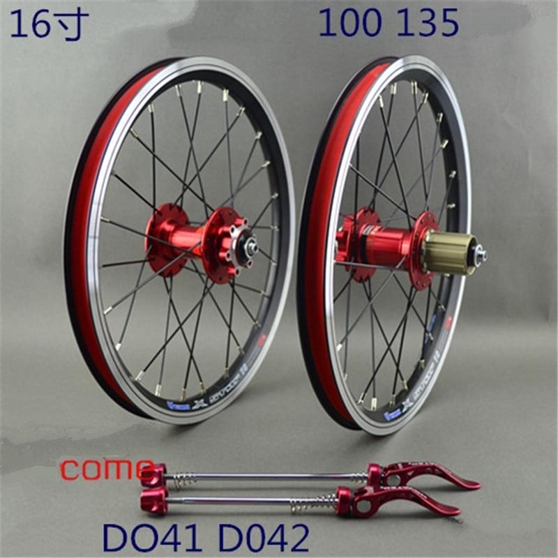 Bike Disc Brake Wheelset 16 Inch 18 Inch Bicycle Wheels 100 135mm
