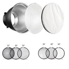 "7"" Bowens Mount Standard Reflector Diffuser Lamp Shade Dish + Honeycomb Grid for photography Studio Flash Strobe light"