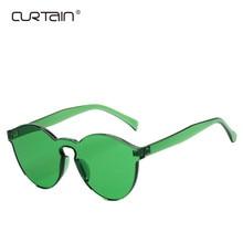 CORTINA de Moda Das Mulheres Óculos de Sol Cat Eye Shades UV400 Eyewear  Doce Cor Marca de Luxo Designer óculos de Sol Integrado 80ce997086