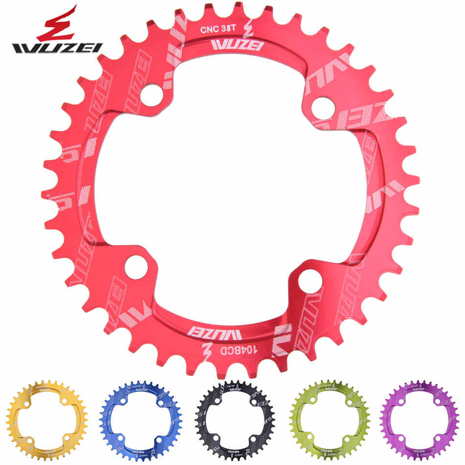 MTB Bicycle Chainring 104BCD Narrow Wide Single Speed Ring 32//34//36T Oval Circle