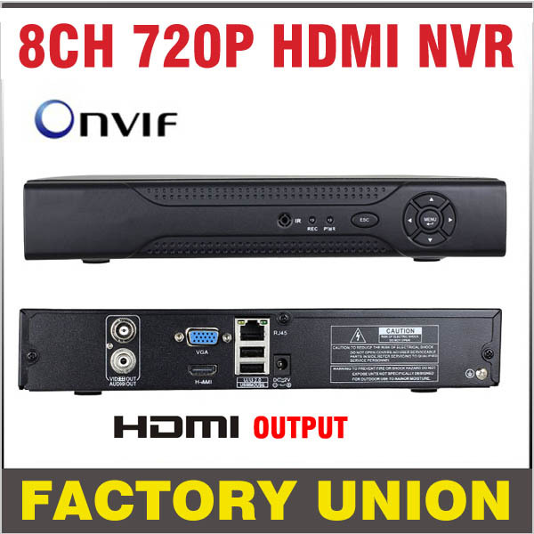 NVR 8 channel HDMI Standalone Output 8CH NVR 720P H.264 CCTV NVR 8CH Network Video Super  for IP Camera Security System ONVIF 8ch cctv nvr h 264 hd mega pixels 8 channel security hdmi network video recorder for ip camera mobile phone view