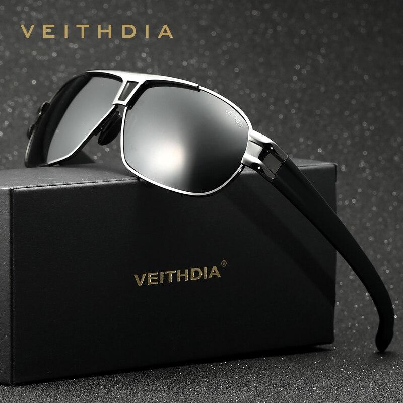 VEITHDIA Polarizzati mens occhiali da sole del progettista di marca di guida Occhiali Da Sole Accessori di Eyewear shades oculos de sol masculino 8516