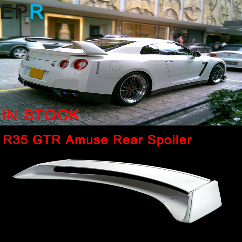 <font><b>GTR</b></font> <font><b>R35</b></font> FRP Fiber Glass Amuse <font><b>Rear</b></font> <font><b>Spoiler</b></font> For Nissan Fiberglass Trunk <font><b>Spoiler</b></font> Racing Auto Accessories Body Kit image