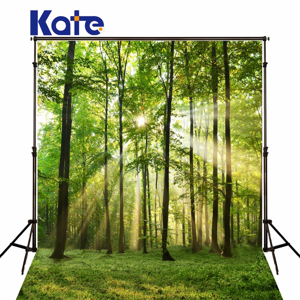 KATE Green Tree Backgrounds Newborn Photography Backdrop Forest Scenery Backdrops Spring Background For Children Photo Studio newborn photography background blue sky white clouds photo backdrop vinyl balloons scattered petals backgrounds for photo studio