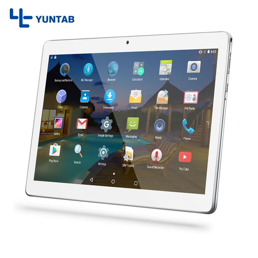 Hot Sale Yuntab K107 3g tablets PC Android5 1 touch screen 1280 800 Built with Dual