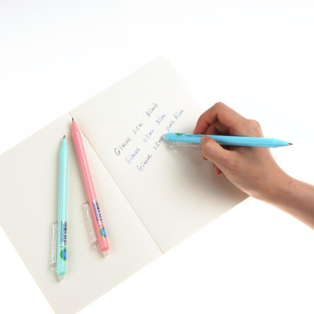 4 Pieces/Lot Retractable Erasable Gel Pens, 0.5mm Fine Point  , Assorted Color Inks Blue & Dark Blue & Black Pen parker 88 maroon lacquer gt fine point fountain pen