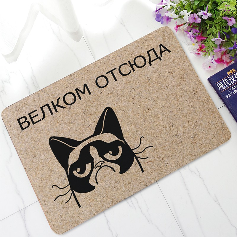 Welcome Floor Mats Indoor Entrance Door Mat Kitchen Carpets and Rug Funny Russian Words for Living Room Bedroom Home Decor