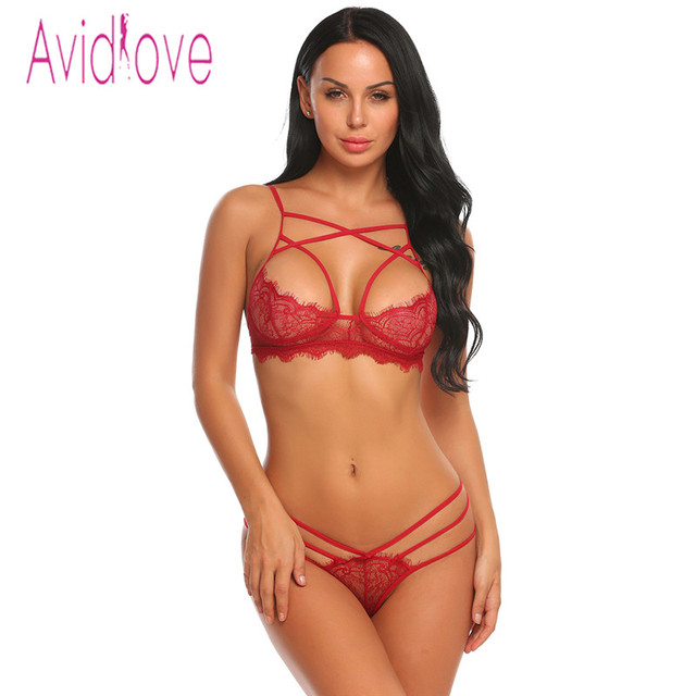 Avidlove Open Bra Crotch Erotic Lingerie Set Lace Nightgowns Sexy Bra Panty Womans Lingerie And Exotic Bra Sets Sex Products 3