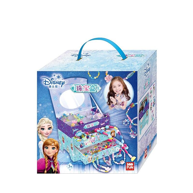 100FUN Jewelry Box Cordless Children Beaded Toy DIY Handmade Girl Toy Handmade Beaded цена