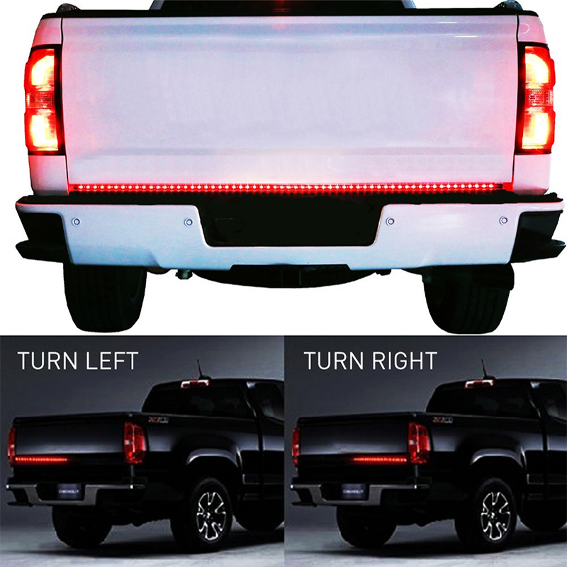 OKEEN 90LED 60 Red/white Tailgate LED Strip Pickup led Bar for Reverse Brake Turn Signal for Ford Dodge Ram Chevy jeep SUV