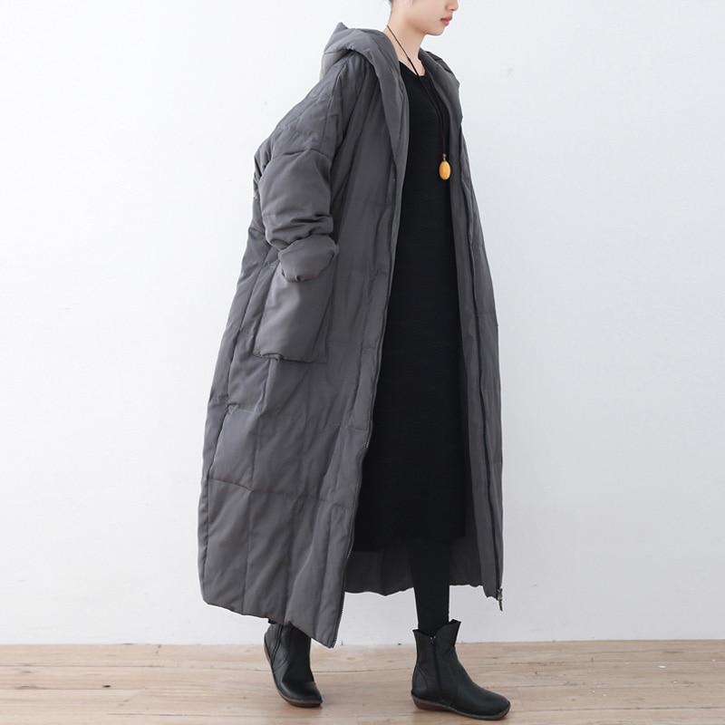 Johnature Women สีทึบลงเสื้อโค้ท Hooded วินเทจ 2019 ฤดูหนาวใหม่ Plus ขนาดเสื้อผ้าผู้หญิงกระเป๋าคุณภาพสูง Coats-ใน เสื้อโค้ทดาวน์ จาก เสื้อผ้าสตรี บน   3