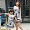 Мода Семья Соответствующие Одежду Мать и Дочь Соответствующие Одежда Мама и Дочь Соответствие Платья Одежду для Всей Семьи MO08