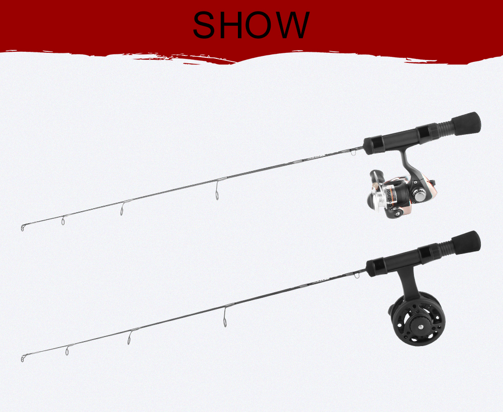 2018 New Winter Fishing 61cm 63.5cm 66cm, UL L ML, Spinning Fishing Reel Fly Reel And Ice Fishing Rod Combo Portable Mini Set  (11)