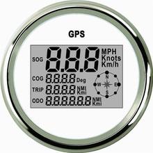 Автомобиль Грузовик Двигатель Авто GPS Спидометр 9-32 В Водонепроницаемый нержавеющая сталь белый цифровой Измерительные приборы Бесплатная доставка