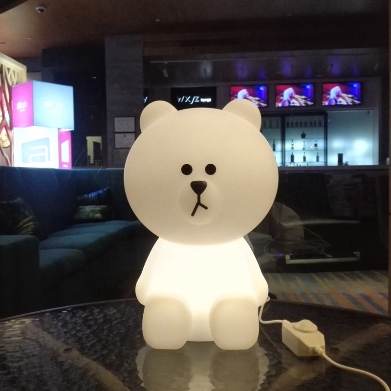 Ins Hot Bear Night Light Led Desk Light Bedroom Bedside Table Lamp Christmas Creative Gifts for Baby Children Kids Cartoon Lamp