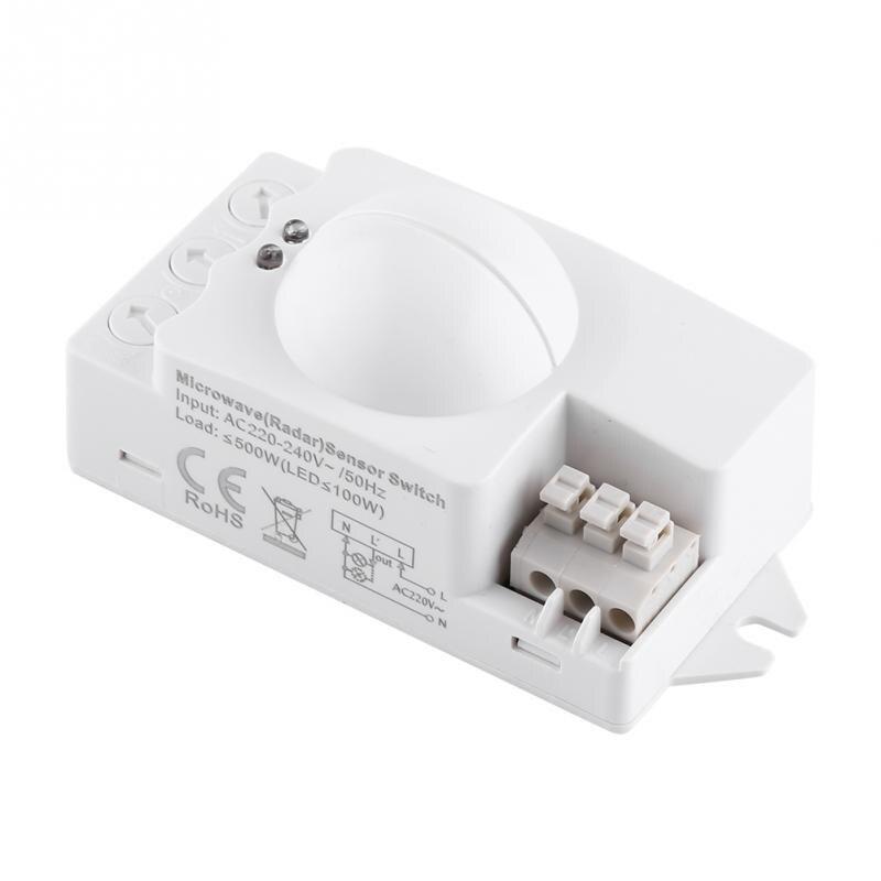 1pc Microwave Light Switch 360 Degree 500W Radar Motion Detector Smart Microwave Sensor Light Switch