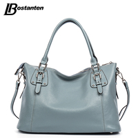 BOSTANTEN New Genuine Leather Bag Large Women Leather Handbags Famous Brand Women Tote Bags Big Ladies