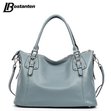 BOSTANTEN New Genuine Leather Bag Large Women Leather Handbags Famous Brand Women Tote Bags Big Ladies Shoulder Bag Bolsos Mujer