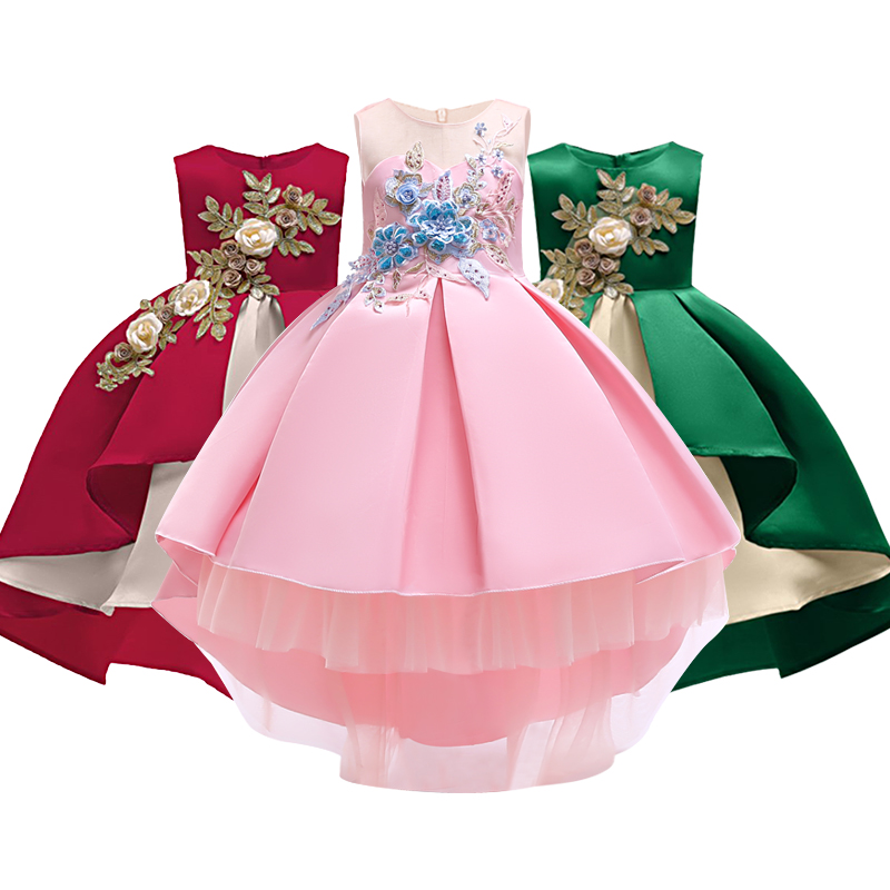 Summer Christmas Flower Girls Dress Girl Odzież Bez rękawów Princess Dresses Girl Costume Kids Clothes