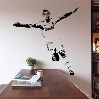 Cristiano Ronaldo Football Player Sticker Sports Posters Vinyl Soccer Star Wall Decals Removable Art Stickers Home