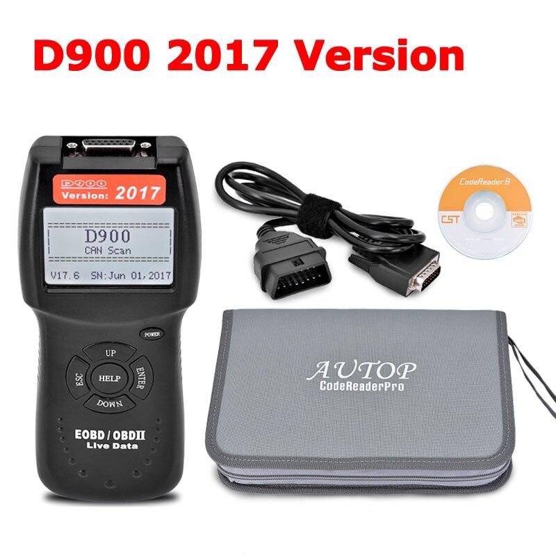 2017 Latest Version D900 OBD2 Scanner D900 Code Reader Diagnostic Tool CANBUS D 900 EOBD OBD2
