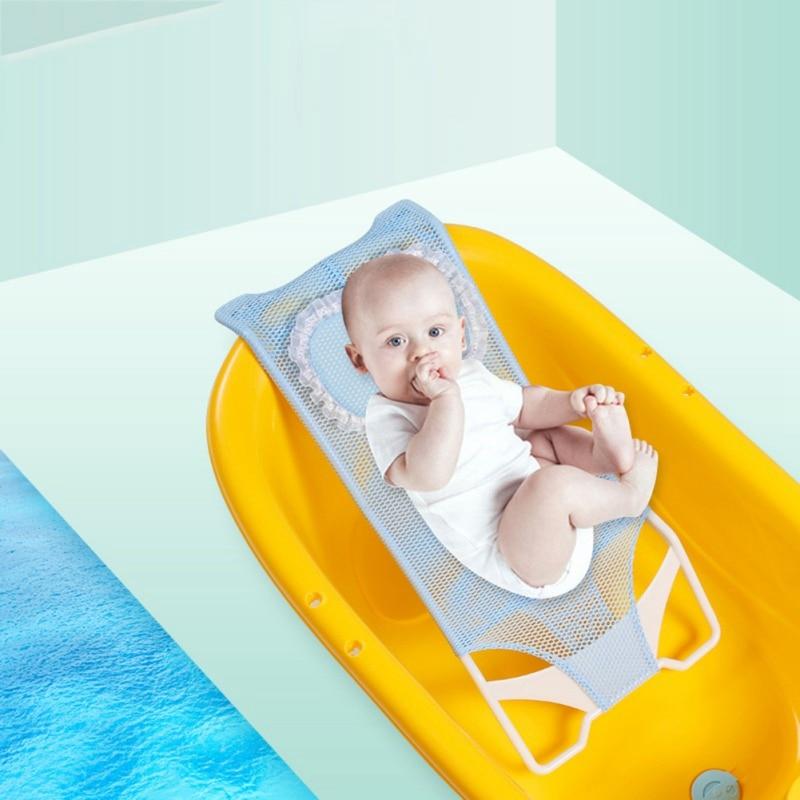assento de banho do bebe rede de apoio banheira chuveiro malha cama net bebe chuveiro rack
