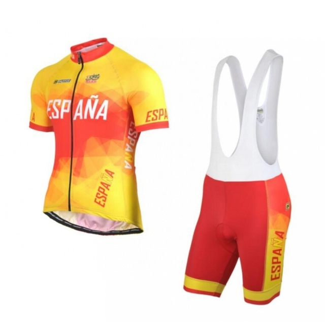 2018 new Spain Ropa Ciclismo pro team Espana cycling jerseys set summer Bicycle  maillot breathable MTB bike clothing gel pad 79bb7763e