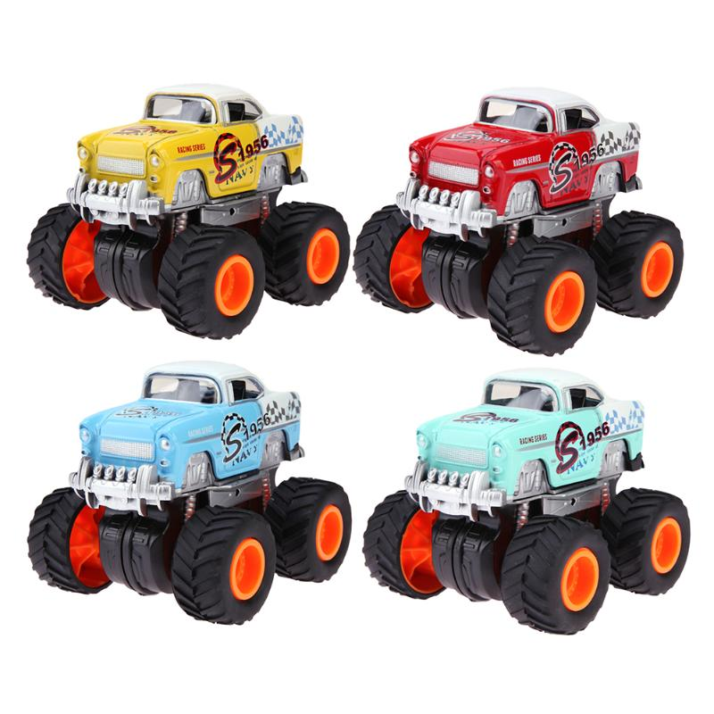 Baby Car Toys Children Cartoon Four-Wheels Racing Cars Model Diacast Alloy Car Toy Kids Simulation Vehicle Toys Gift