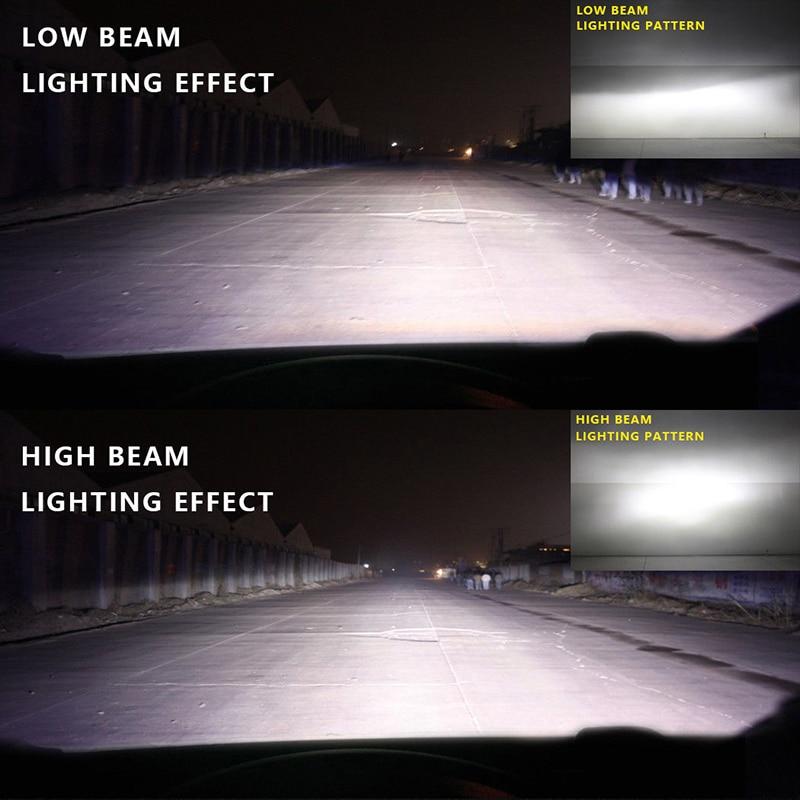 Vehemo 2 шт. H4/9003/HB2 светодио дный противотуманных фар светодио дный фар освещение сборки высокого Мощность лампочки Автомобильные аксессуары Передняя лампа