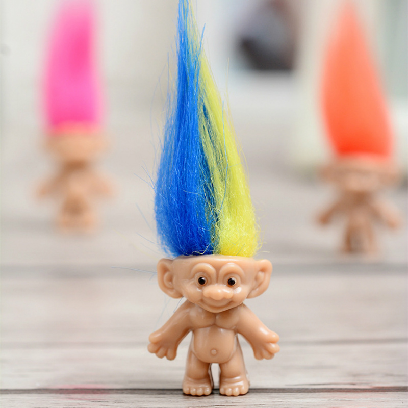 Image 5 - 10pcs/lot 8cm Mini Trolls Doll Action Figures Toy Plastic Classical Models Dolls Spirits Boys Girls Funs Gift Toys for Children-in Action & Toy Figures from Toys & Hobbies