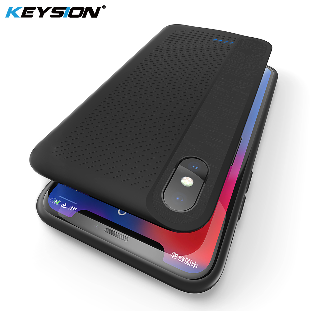 KEYSION Portable Battery Charger Case for iPhone X Charging 3000mAh Power Bank iPhoneX 10