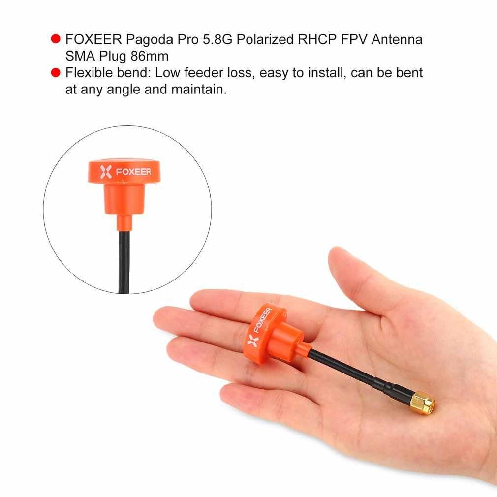 FOXEER Pagoda Pro 5.8G Polarizzati RHCP FPV Antenna SMA Spina 86 millimetri Per RC Racing Droni Quadcopter Fatshark Occhiali di Protezione occhiali