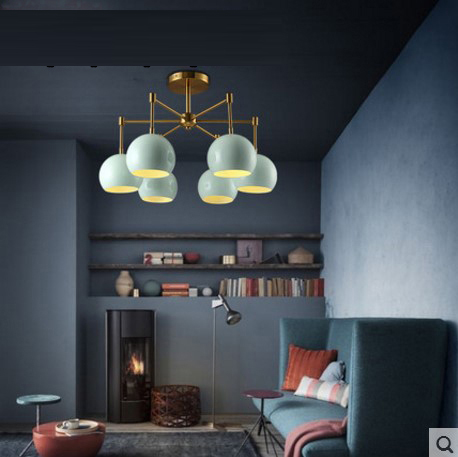 LED lighting post-modern simple fashion creative personality living room bedroom restaurant pastoral warm ceiling lamp CL FG450 modern simple oval bedroom lighting living room crystal ceiling lamp creative restaurant dining room led crystal hanging lamps