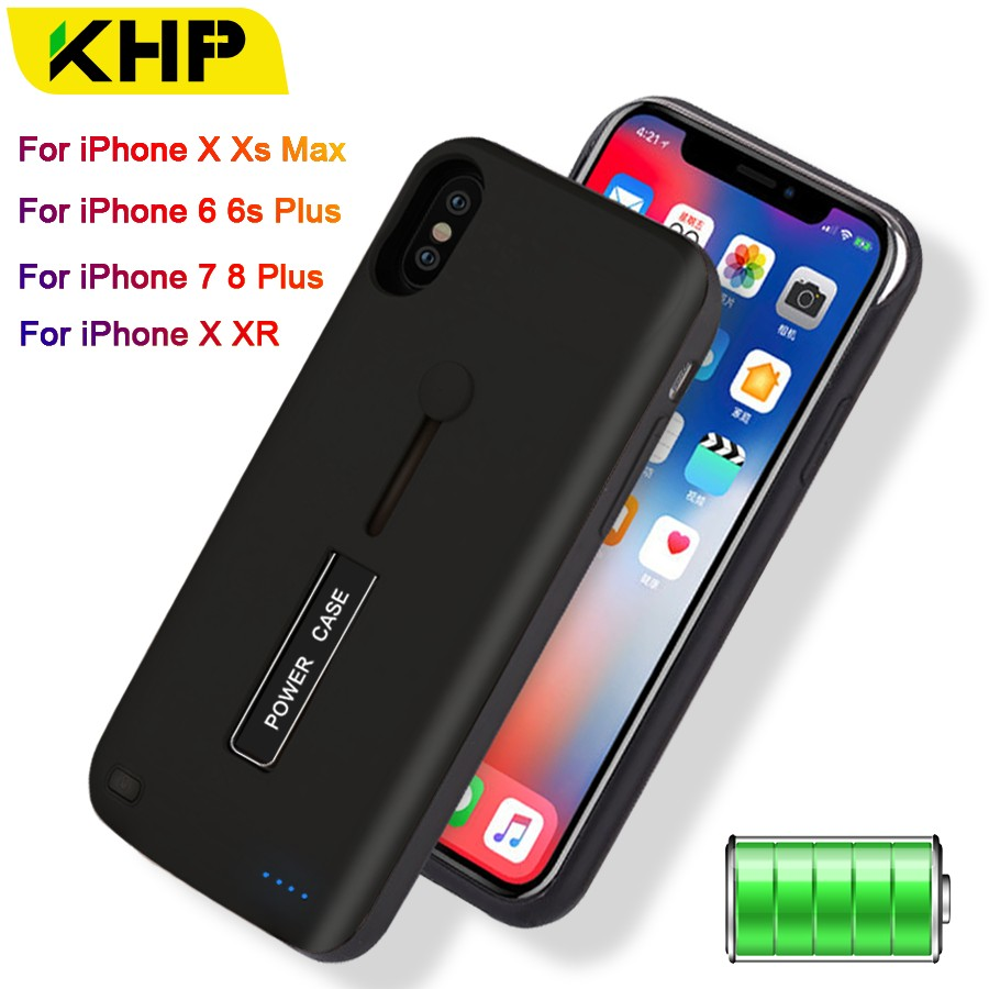 d2fb0c01b35 Cargador de batería para iPhone 6 6 s 7 7 8 Plus 3500 mAh/4000 mAh/5000 mAh  Powerbank funda para iPhone X XR Xs funda de carga de batería ~ Super Deal  July ...