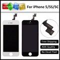 10 ШТ. (заказ смешивания) для iPhone 5 5S 5C ЖК-Дисплей Планшета С Сенсорным Экраном Замена Ассамблеи Запчастей Бесплатный DHL/EMS