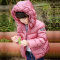 Niñas Abrigo de Invierno Abajo Chaqueta de Ropa de Bebé Niña Giro Parka Con Capucha Niños Clothing Factory-direct-Kid ropa de Ucrania Outwear