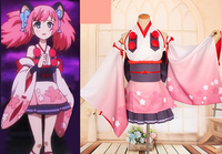 Customize Anime Show By Rock Bess Un Kimono Dress Cosplay Costume New 2017 Free Shipping
