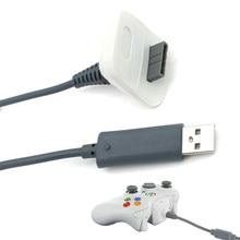 XBOX 360 DC 5V 1.46m USB 용 고품질 USB 충전 케이블 XBOX 360 무선 컨트롤러 용 충전기 케이블 코드 충전