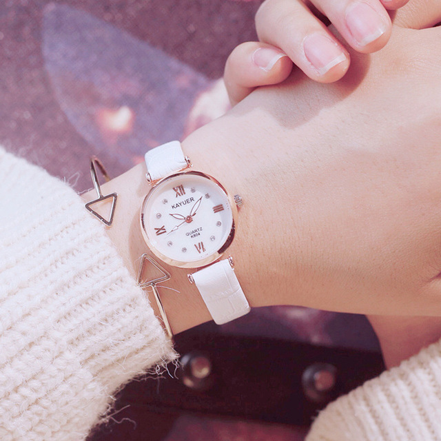 2018 Luxury diamond bracelet watch women white elegant ladies quartz leather wir