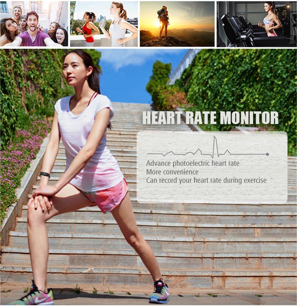 MOCRUX Smart Wristband Bracelet H3 Smartband IP68 Waterproof Heart Rate Monitor FitnessActivity Tracker Smart Watch Call Alarm  (4)