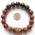 2017 1 PC Tubo de Ouro Areia Pedra Artesanal Dragão Ágata Tibetano 6 Sílaba Mantra Beads Estiramento Pulseira Caixa de Presente
